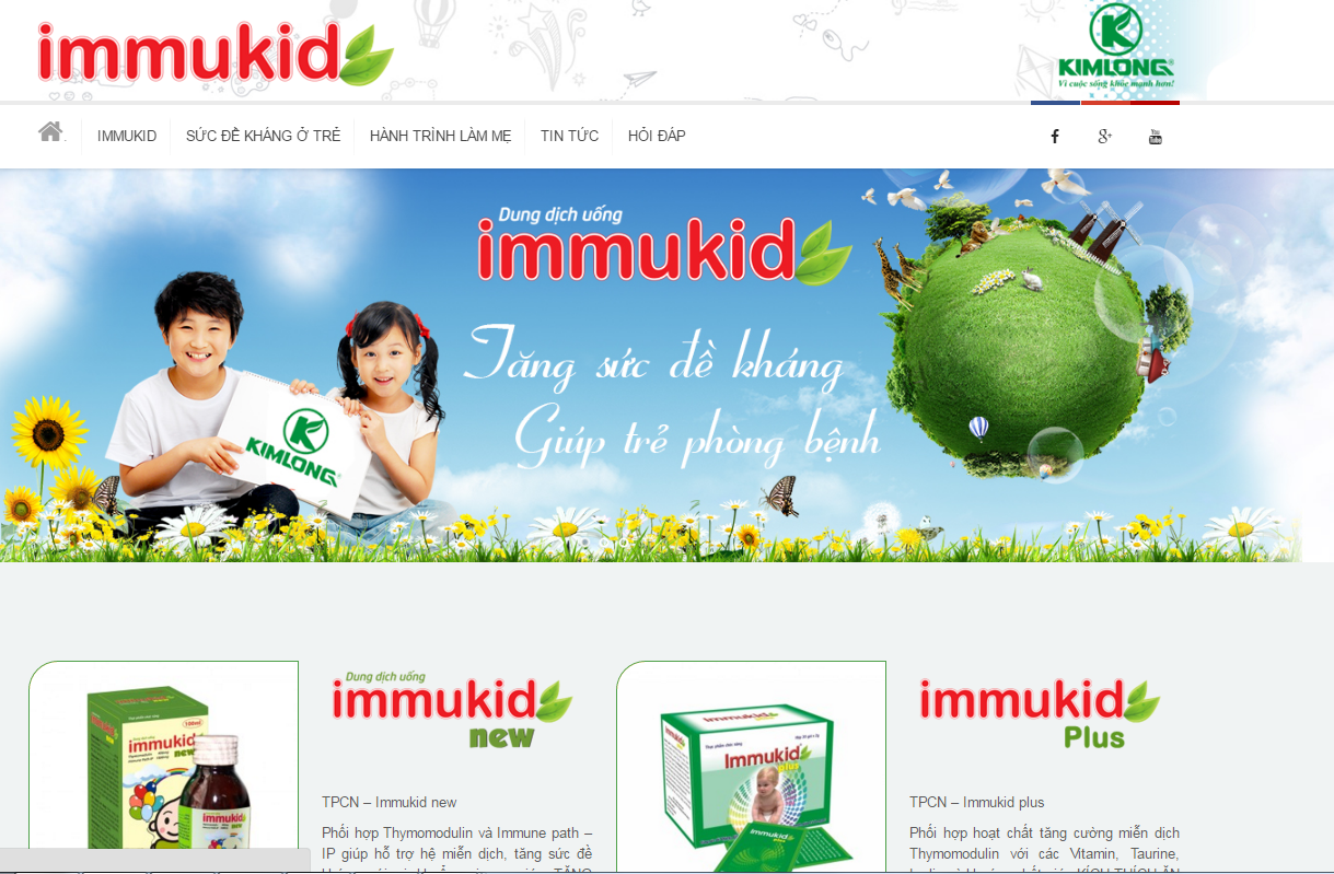Ra mắt giao diện mới website immukid.vn