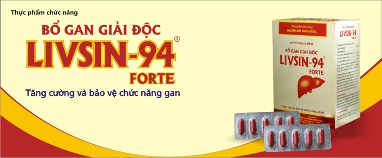 Livsin94 tăng cường chức năng gan